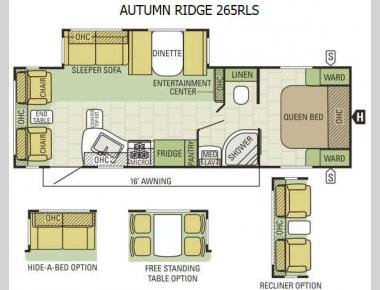 Floorplan - 2015 Starcraft Autumn Ridge 265RLS