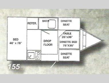 Floorplan - 2014 Riverside RV Waterfall 155 Classic