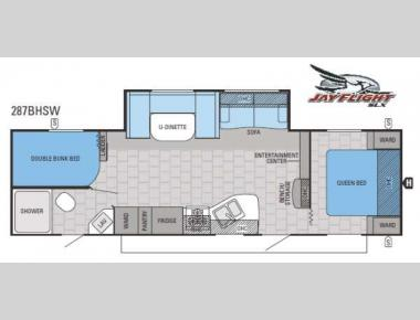 Floorplan - 2015 Jayco Jay Flight SLX 287BHSW