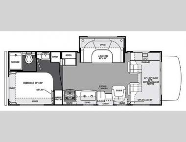 Floorplan - 2015 Forest River RV Forester 2451S Chevy