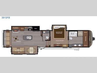Floorplan - 2015 Keystone RV Montana 3910 FB