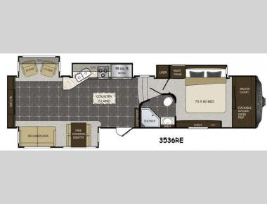 Floorplan - 2015 Keystone RV Alpine 3536RE