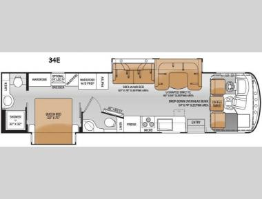 Floorplan - 2015 Thor Motor Coach Windsport 34E