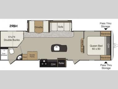 Floorplan - 2015 Keystone RV Passport 29BH Elite