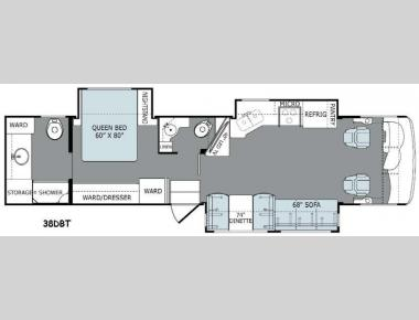 Floorplan - 2015 Holiday Rambler Ambassador 38DBT
