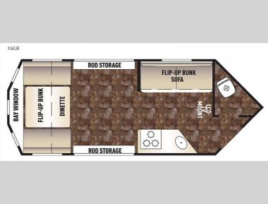 Floorplan - 2015 Forest River RV Cherokee Grey Wolf 16GR