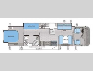 Floorplan - 2015 Jayco Precept 35UP