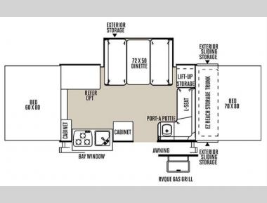 Floorplan - 2015 Forest River RV Rockwood Premier 2514G