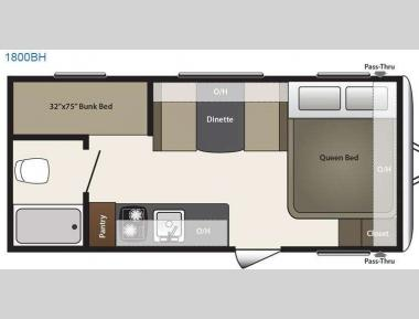 Floorplan - 2015 Keystone RV Summerland Mini 1800BH