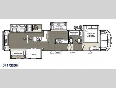 Floorplan - 2015 Forest River RV Sierra 371REBH