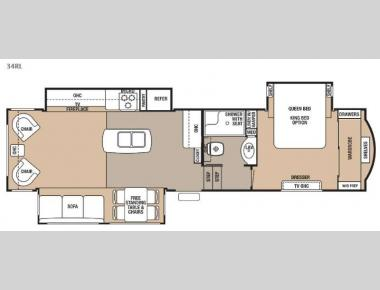 Floorplan - 2015 Forest River RV Cedar Creek 34RL