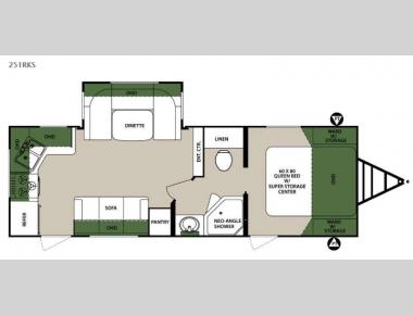Floorplan - 2015 Forest River RV Surveyor 251RKS