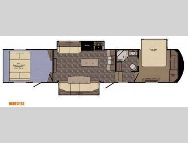 Floorplan - 2015 CrossRoads RV Elevation Homestead