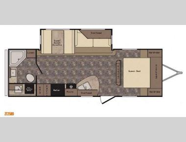 Floorplan - 2016 CrossRoads RV Zinger ZT25RB