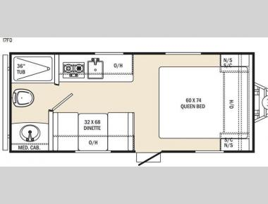 Floorplan - 2016 Coachmen RV Clipper Ultra-Lite 17FQ