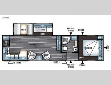 Floorplan - 2016 Forest River RV Salem 29RKSS