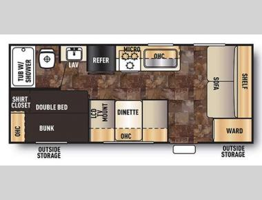 Floorplan - 2016 Forest River RV Cherokee Grey Wolf 17BH