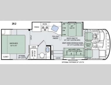 Floorplan - 2016 Thor Motor Coach ACE 29.2