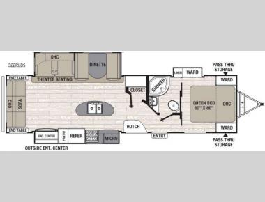 Floorplan - 2016 Coachmen RV Freedom Express Liberty Edition 322RLDS