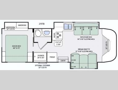 Floorplan - 2016 Thor Motor Coach Citation 29TB