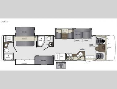 Floorplan - 2016 Forest River RV Georgetown 364TS