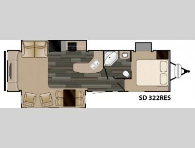 Floorplan - 2016 Heartland Sundance 322RES