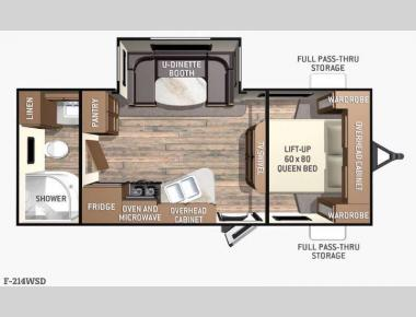 Floorplan - 2016 Cruiser Fun Finder F-214WSD