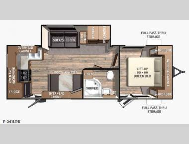 Floorplan - 2016 Cruiser Fun Finder F-241LRK