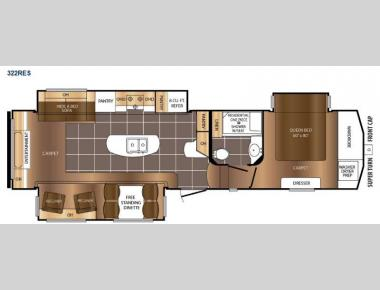 Floorplan - 2016 Prime Time RV Crusader 322RES