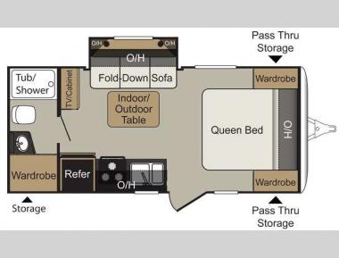 Floorplan - 2016 Keystone RV Passport 199ML Express