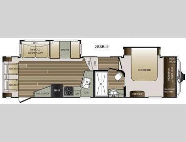 Floorplan - 2016 Keystone RV Cougar 288RLS
