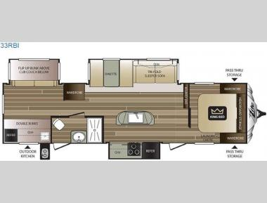 Floorplan - 2016 Keystone RV Cougar X-Lite 33RBI