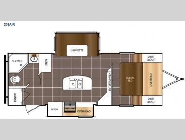 Floorplan - 2015 Prime Time RV Tracer Air 238AIR
