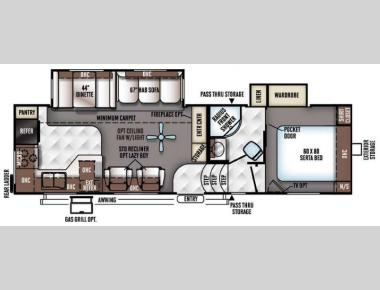 Floorplan - 2016 Forest River RV Flagstaff Classic Super Lite 8528RKWS