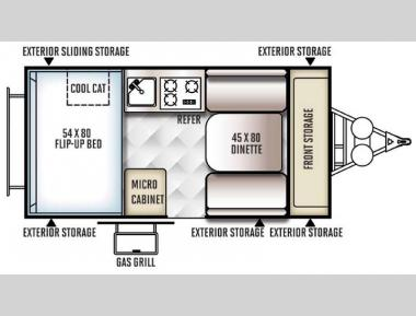 Floorplan - 2016 Forest River RV Flagstaff Hard Side T12RBST