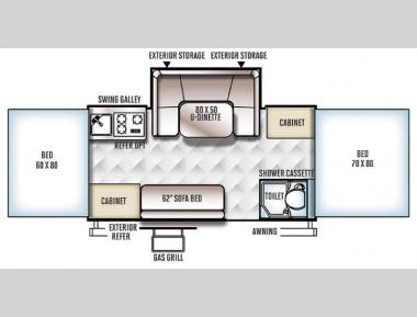 Floorplan - 2016 Forest River RV Rockwood Premier 2716G