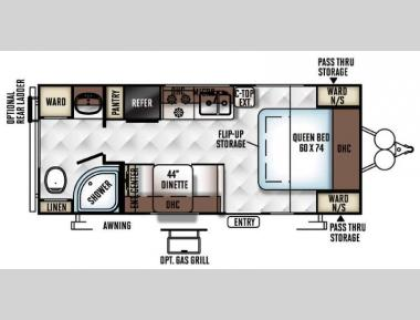 Floorplan - 2016 Forest River RV Rockwood Mini Lite 2304
