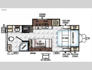 Floorplan - 2016 Forest River RV Rockwood Mini Lite 2503S