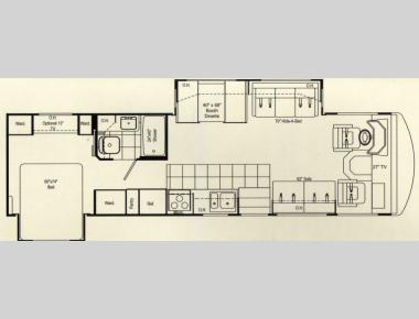 Floorplan - 2007 Damon Daybreak 3272