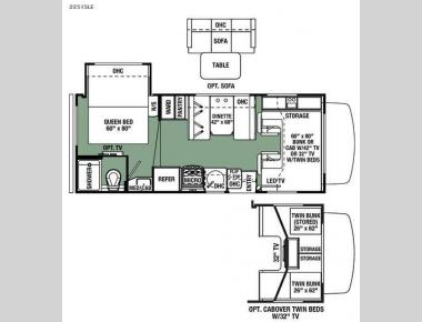 Floorplan - 2016 Forest River RV Forester LE 2251SLE Chevy