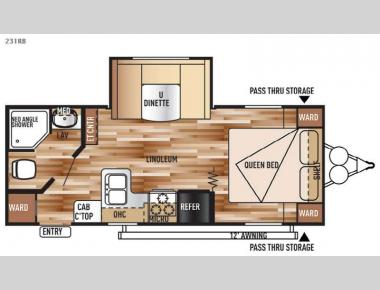 Floorplan - 2016 Forest River RV Salem Cruise Lite 231RB