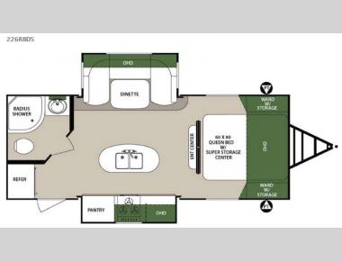 Floorplan - 2016 Forest River RV Surveyor 226RBDS