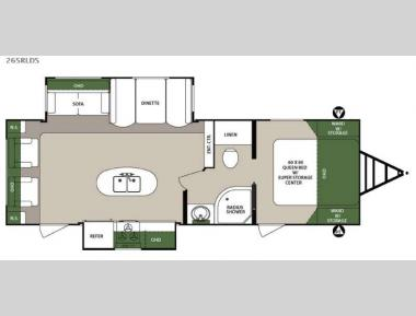 Floorplan - 2016 Forest River RV Surveyor 265RLDS