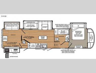 Floorplan - 2016 Forest River RV Wildcat 344QB