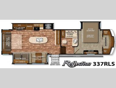 Floorplan - 2016 Grand Design Reflection 337RLS
