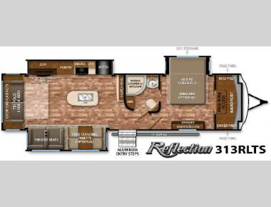 Floorplan - 2016 Grand Design Reflection 313RLTS