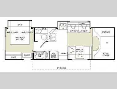 Floorplan - 2007 Fleetwood RV Jamboree GT 30U