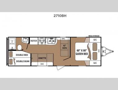 Floorplan - 2016 Dutchmen RV Aspen Trail 2710BH