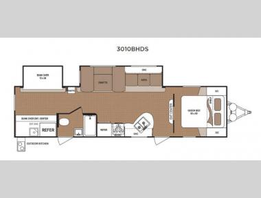 Floorplan - 2016 Dutchmen RV Aspen Trail 3010BHDS
