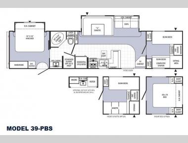 Floorplan - 2015 Palomino Puma Destination 39-PBS